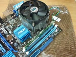 Монтаж процессора, оперативной памяти, системы охлаждения
