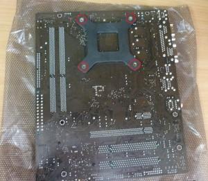Установка вентилятора на процессор